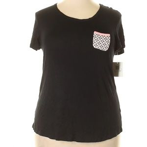 NWT Ellen Tracy Black Short Sleeve Top 1X